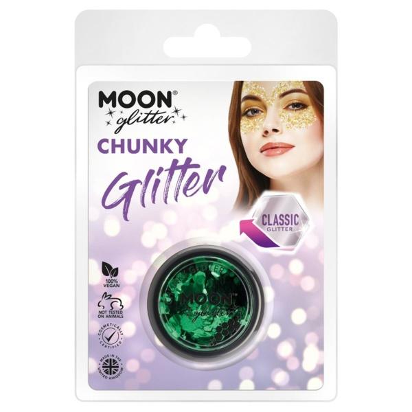TŘPYTKY Chunky Glitter zelené