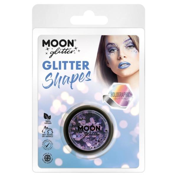 TŘPYTKY Glitter Shapes holografické fialové