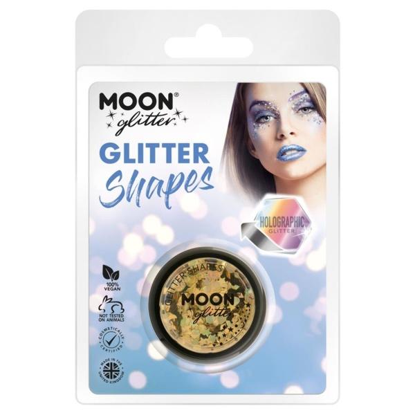 TŘPYTKY Glitter Shapes holografické zlaté