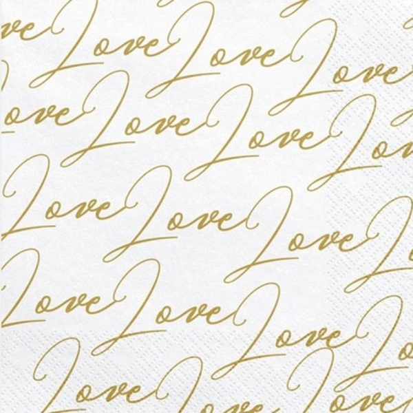 UBROUSKY bílé Love 33x33cm 20ks