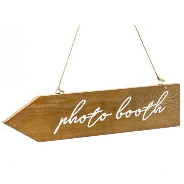 UKAZATEL dřevěný Photo booth