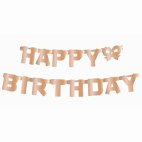 GIRLANDA Happy Birthday metalická Rose Gold 160cm