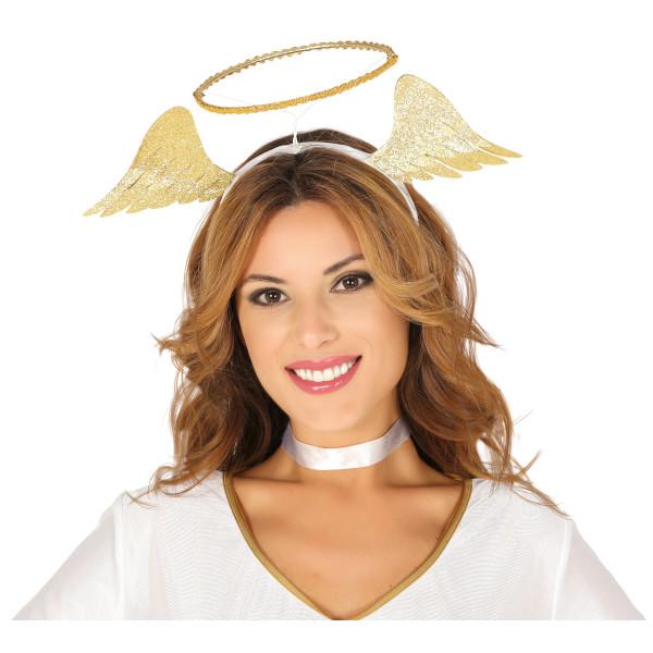 SVATOZÁŘ andělská s křídly na čelence