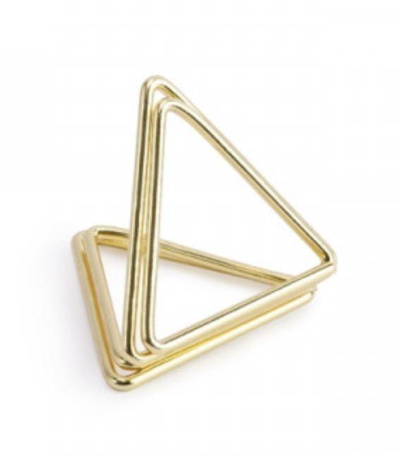 DRŽÁKY na jmenovky trojúhelníkové zlaté 2,3cm